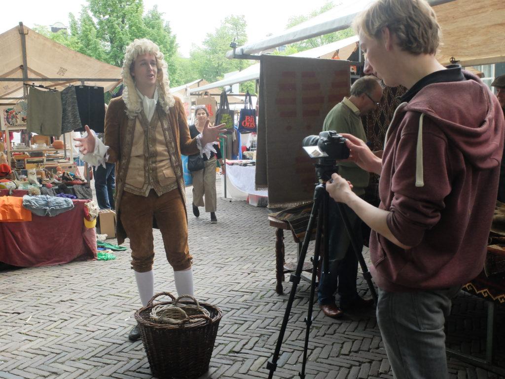 Opnames voor Soelen op de Noorderparkt.