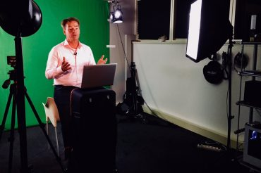 Green screen-opnames voor The Amsterdam VR Company