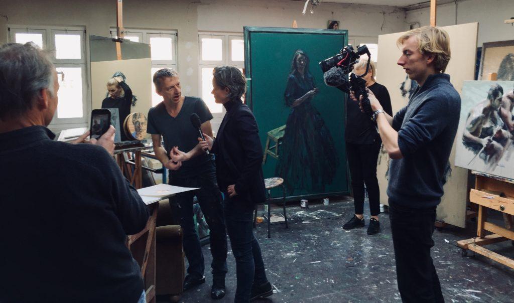 Opnames Nationaal Atelier met Lara Rense en Sam Drukker